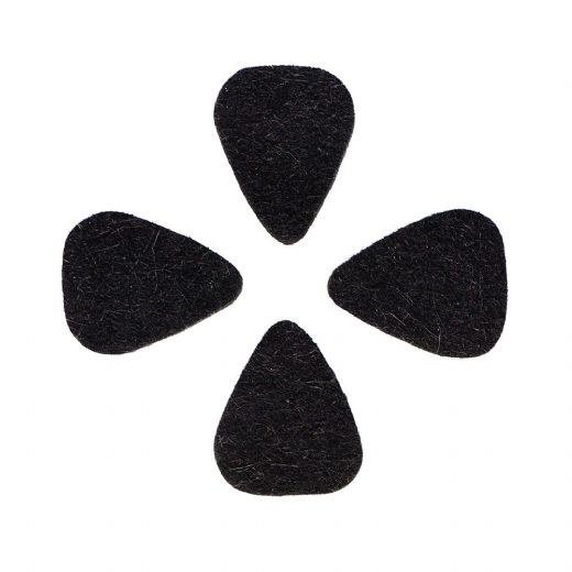 Felt Tones Mini Black Wool Felt 4 Guitar Picks